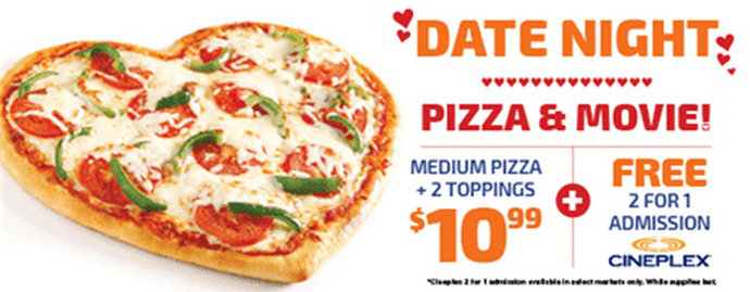 Pizza Pizza: Customers are invited to visit their local Pizza Pizza restaurant location from April 1 – April 30 and trade in an old, unwanted or broken electronic device in exchange for a free slice of pepperoni or cheese pizza. Limit 4 devices per customer.