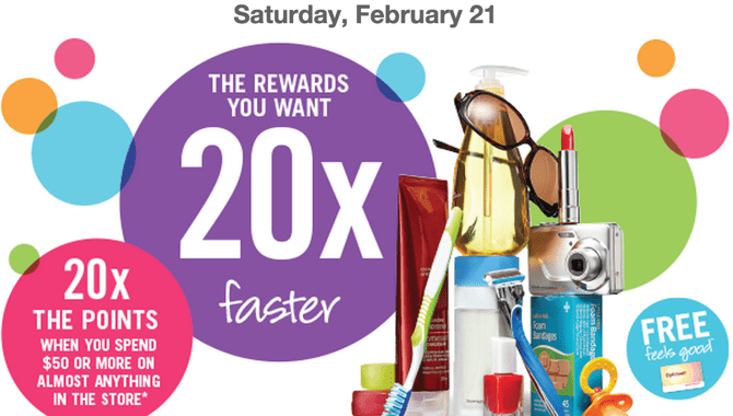 Shoppers Drug Mart Canada Offers Shoppers Drug Mart Canada Offers: 20x Optimum the Optimum Points when You Spend $50 On Anything this Saturday, February 21