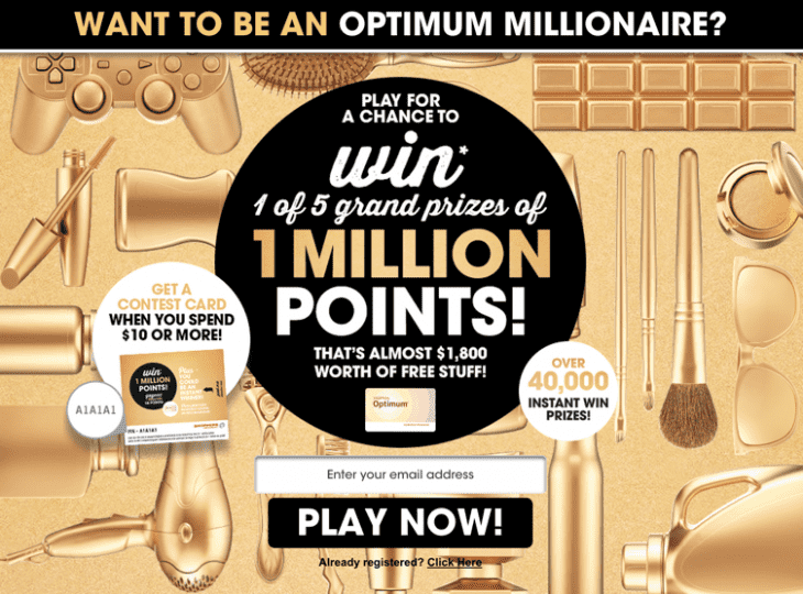 Shoppers Drug Mart Canada The Optimum Millionaire Contest  730x540 Shoppers Drug Mart Canada Promotion The Optimum Millionaire Contest is Back!
