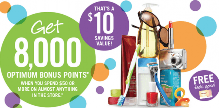 Shoppers Drug Mart Coupon 730x361 Shoppers Drug Mart Canada Printable Coupons: Get 8,000 Optimum Bonus Points ($10 Sav­ings Value) when You Spend $50 or More On Anything!