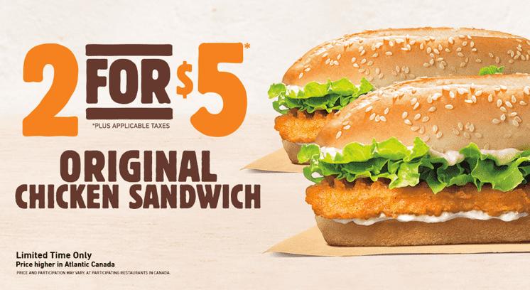 Burger King Canada King Deals Canadian Freebies Coupons