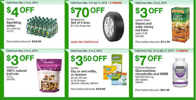 Costco East 2 Costco Canada Handouts Coupons Flyers Instant Savings For Ontario, Quebec & Atlantic Provinces, From Monday, March 2 To Sunday, March 8, 2015