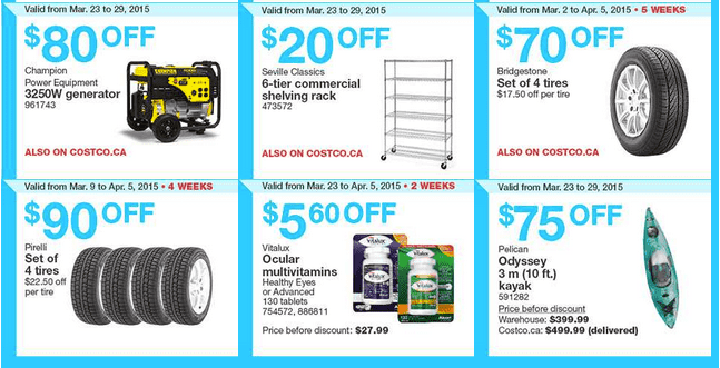 Costco East 22 Costco Canada Handouts Coupons Flyers Instant Savings For Ontario, Quebec & Atlantic Provinces, From Monday, March 23 To Sunday, March 29, 2015