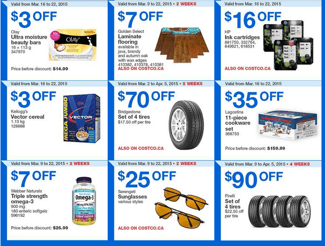 Costco Ont2 Costco Canada Handouts Coupons Flyers Instant Savings For Ontario & Atlantic Provinces, From Monday, March 16 To Sunday, March 22, 2015