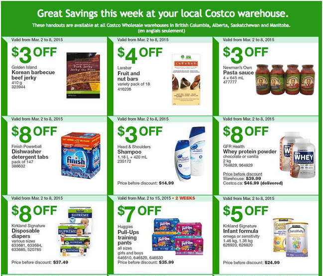 Costco West 1 Costco Canada Weekly Instant Savings Handouts Flyers For British Columbia, Alberta, Saskatchewan & Manitoba From Monday, March 2 Until Sunday, March 8, 2015