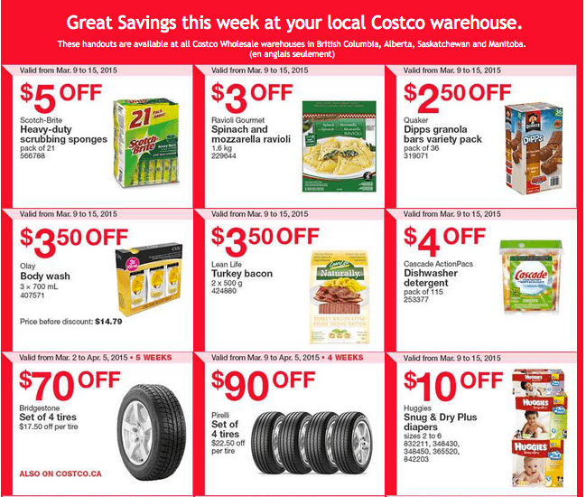 Costco West 11 Costco Canada Weekly Instant Savings Handouts Flyers For British Columbia, Alberta, Saskatchewan & Manitoba From Monday, March 9 Until Sunday, March 15, 2015