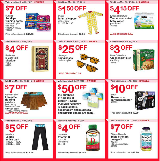 Costco West 21 Costco Canada Weekly Instant Savings Handouts Flyers For British Columbia, Alberta, Saskatchewan & Manitoba From Monday, March 9 Until Sunday, March 15, 2015