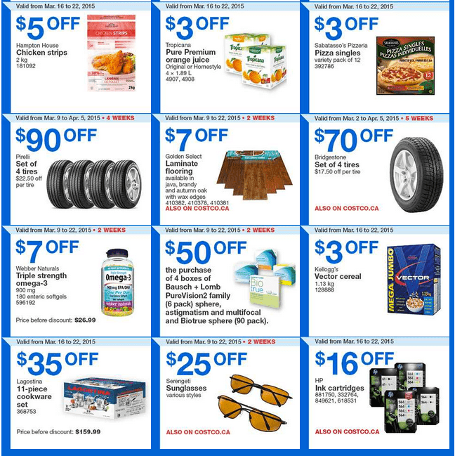 Costco West 22 Costco Canada Weekly Instant Savings Handouts Flyers For British Columbia, Alberta, Saskatchewan & Manitoba From Monday, March 16 Until Sunday, March 22, 2015