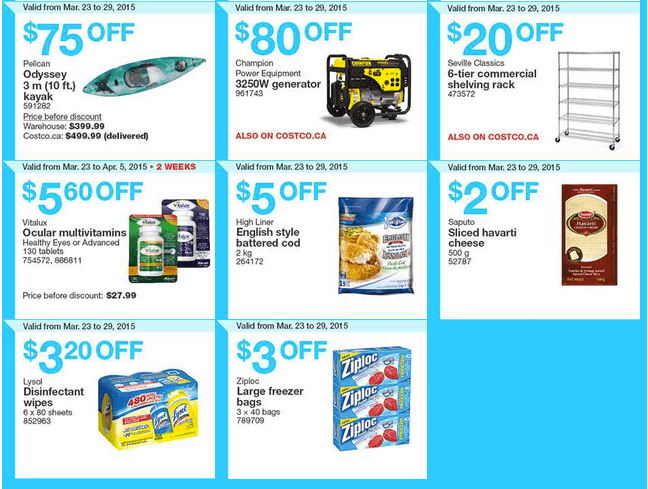 Costco West 23 Costco Canada Weekly Instant Savings Handouts Flyers For British Columbia, Alberta, Saskatchewan & Manitoba From Monday, March 23 Until Sunday, March 29, 2015