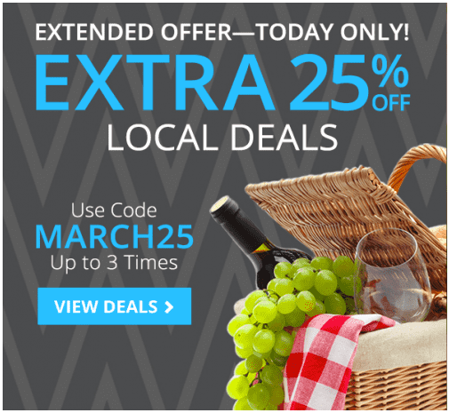 Groupon4 Groupon Canada Online Promo Code: Save An Extra 25% Off Local Deals Extended