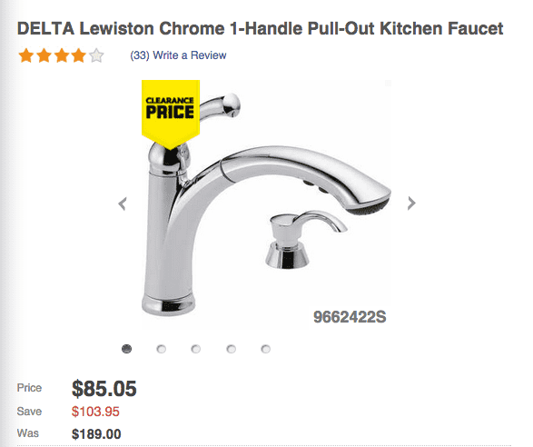 Lowes Lowes Canada Offers: Save 55% On DELTA Lewiston Chrome 1 Handle Pull Out Kitchen Faucet