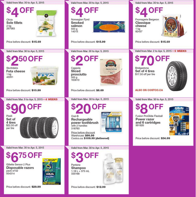 Screen Shot 2015 03 30 at 10.21.49 AM Costco Canada Handouts Coupons Flyers Instant Savings For Ontario, Quebec & Atlantic Provinces, From Monday, March 30 To Sunday, April 5, 2015