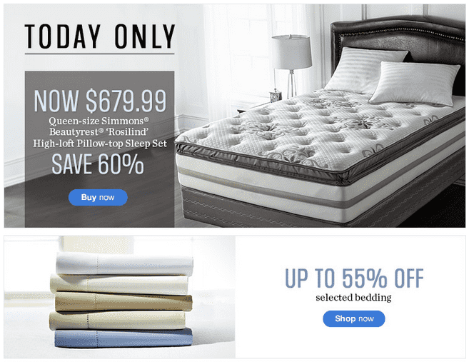 Sears4 Sears Canada One Day Sale: Save 60% On Simmons Beautyrest Rosilind Sleep Set & Up To 55% On Selectd Bedding