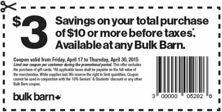 Bulk Barn 730x369 Bulk Barn Canada Coupons: Save $3 On Your Total Purchase Of $10 Or More, April 17 to 30