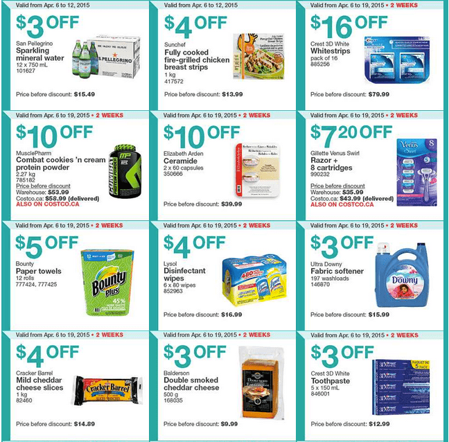 Screen Shot 2015 04 06 at 10.18.10 AM Costco Canada Handouts Coupons Flyers Instant Savings For Ontario, Quebec & Atlantic Provinces, From Monday, April 6 To Sunday, April 12, 2015