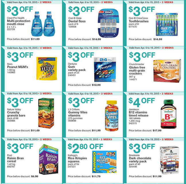 Screen Shot 2015 04 06 at 10.18.34 AM Costco Canada Handouts Coupons Flyers Instant Savings For Ontario, Quebec & Atlantic Provinces, From Monday, April 6 To Sunday, April 12, 2015