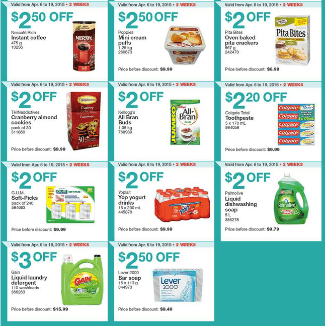 Screen Shot 2015 04 06 at 10.18.51 AM Costco Canada Handouts Coupons Flyers Instant Savings For Ontario, Quebec & Atlantic Provinces, From Monday, April 6 To Sunday, April 12, 2015