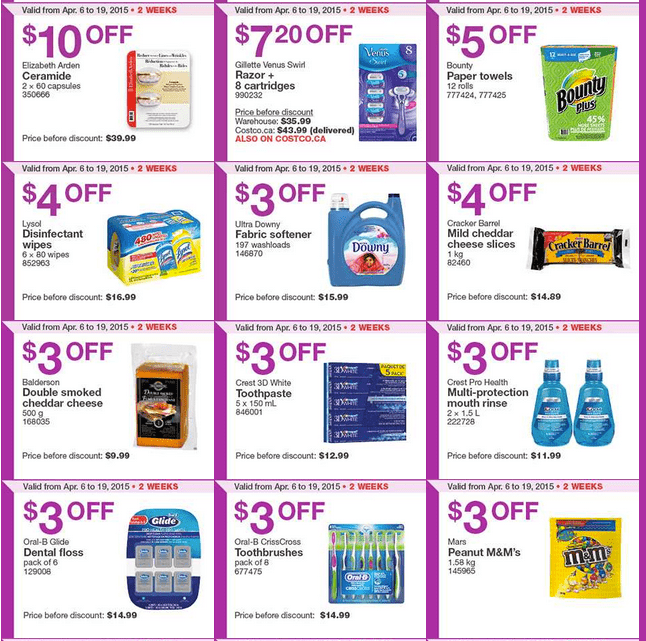 Screen Shot 2015 04 13 at 11.52.12 AM Costco Canada Handouts Coupons Flyers Instant Savings For Ontario, Quebec & Atlantic Provinces, From Monday, April 13 To Sunday, April 19, 2015