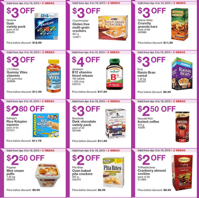 Screen Shot 2015 04 13 at 11.52.37 AM Costco Canada Handouts Coupons Flyers Instant Savings For Ontario, Quebec & Atlantic Provinces, From Monday, April 13 To Sunday, April 19, 2015