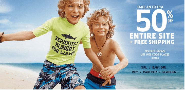 The Children 730x355 The Childrens Place Canada Online Offers: Save 50% Off Your Entire Purchase