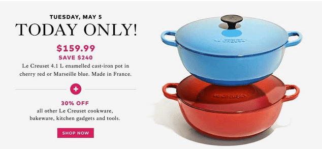 Hudsons Bay1 Hudsons Bay Canada Todays Offers: Save 60% On Le Creuset 4.1 L Cast Iron Traditional Pot & More