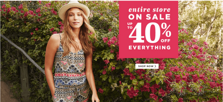 Old Navy 730x335 Old Navy Canada Offers: Get 40% Off The Entire Store, Even New Soft Dressing Collection.