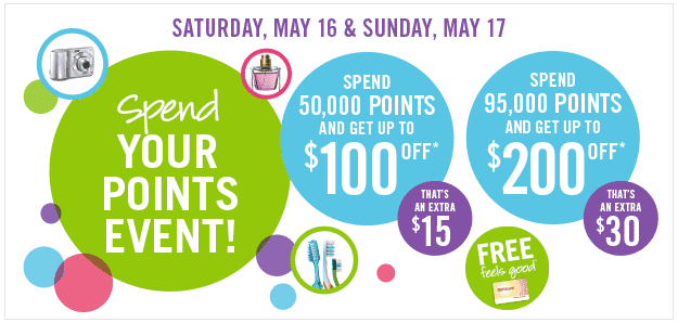 Screen Shot 2015 05 14 at 10.47.42 AM Shoppers Drug Mart Canada Events: Spend 50,000 Points Get Up to $100 Off & Spend 95,000 Points Get Up to $200 Off
