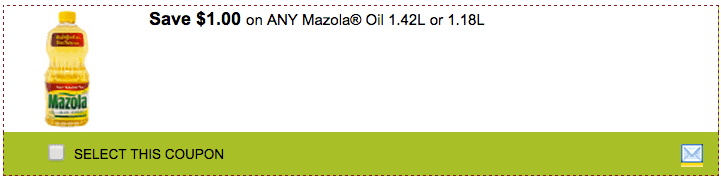 SmartSource SmartSource SmartCanucks Coupons: Save $1.00 on Any Mazola Oil 1.42L or 1.18L!