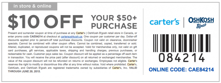Top OshKosh B'gosh coupon: 20% Off Your $50+ In-Store Purchase. Get 41 OshKosh B'gosh promo codes and discounts for December OshKosh B'gosh Skip Hop. Shop realmmaster-radio.ga Other related stores: Carter's Canada Coupons. Carter's US Coupons. Tea Collection Coupons. Souris Mini Coupons. Gap Kids Coupons. Krickets Coupons.