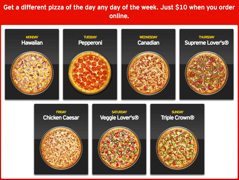 Pizza hut offers today are running on most delicious pizza choices and combo packages. Triple treat box and Pizza Hut Wednesday Offers are a must try for pizza lovers. Checkout the latest Pizza Hut coupons & online deals to orders pizza online at Pizzahut. List. .