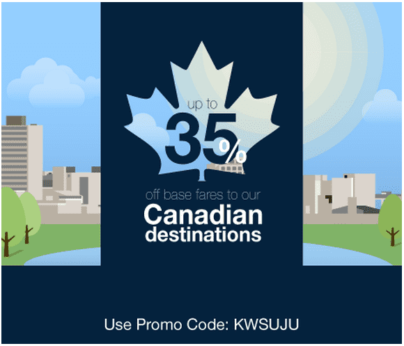 Porter canada offer save up to 35 off base fares to for Porter canada