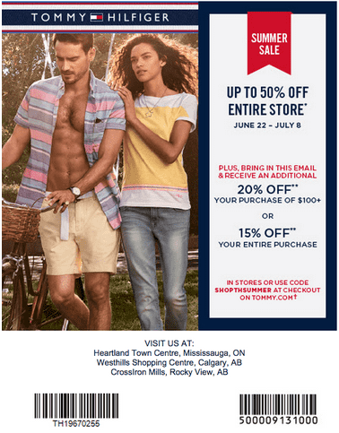 Tommy hilfiger factory store coupons printable
