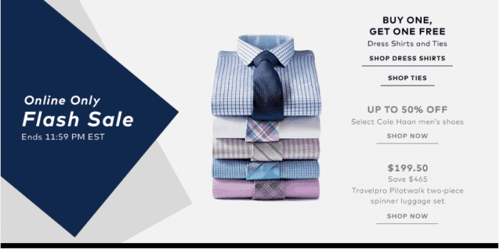Hudson 39 s bay canada flash sale today save dress shirts for Buy 1 get 1 free shirts