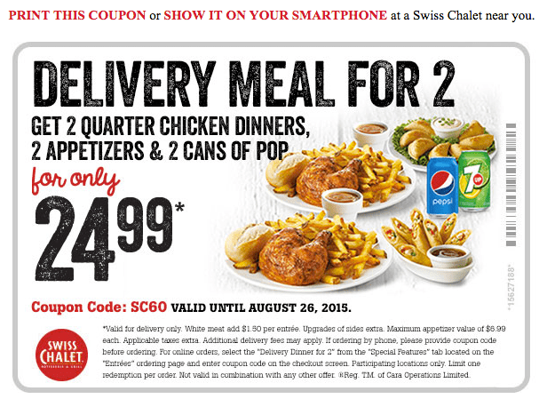 image about Sports Chalet Printable Coupons named Swiss chalet discount coupons august 2018 canada : United kingdom journal