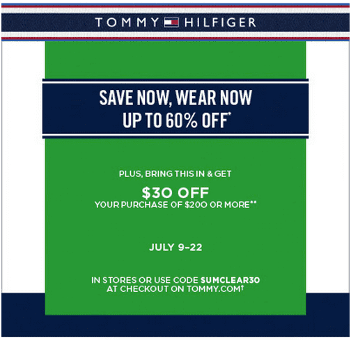 photograph about Tommy Hilfiger Outlet Coupon Printable titled Tommy hilfiger printable coupon codes june 2018 / Berlin town
