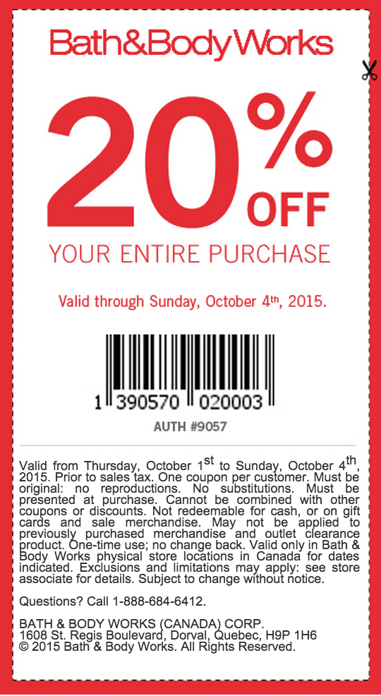 Bath and body works coupon code free shipping canada - Coupon alexia