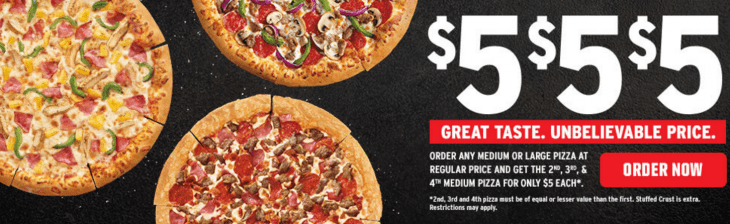 Pizza Hut Canada $5 Deal