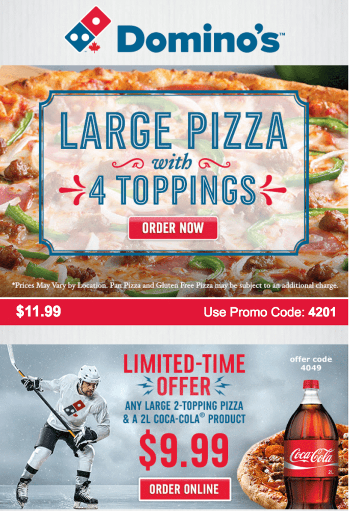 Dominos bentley deals