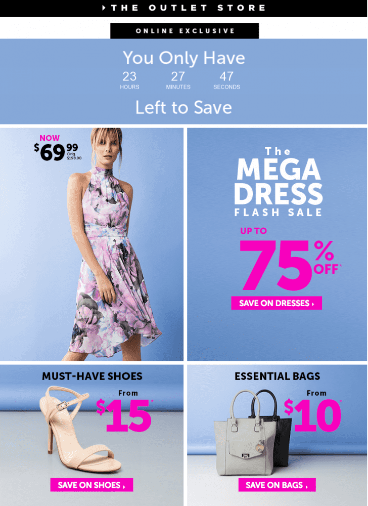 Le Chateau Outlet Canada Mega Dress Flash Sale Save Up To