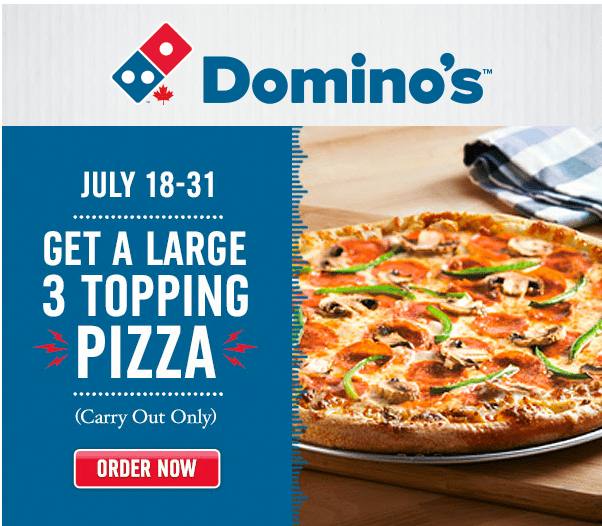 Domino's pizza weekend coupons