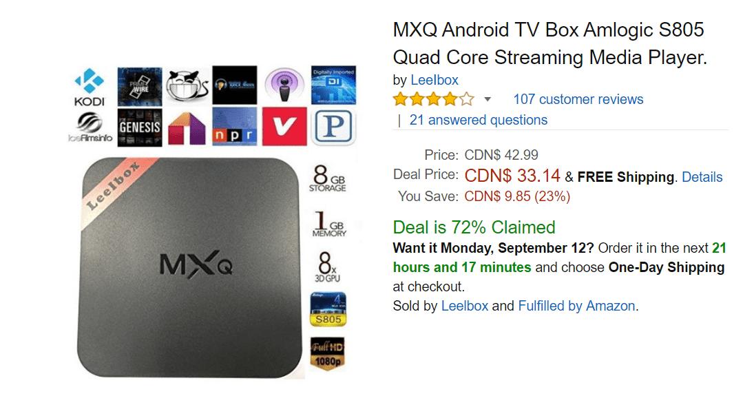 Amazon black friday android box