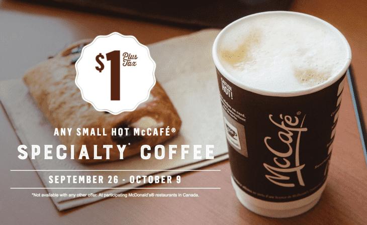 McDonald's Canada Any Small McCafe