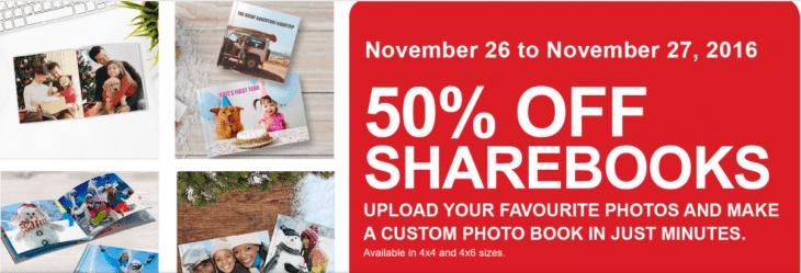 Shoppers Drug Mart Photo Deals: Save 50% Off ShareBook