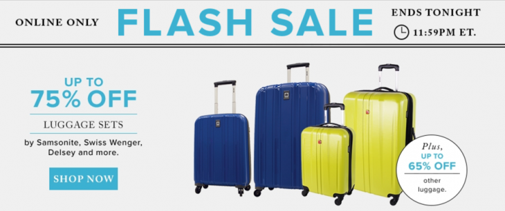 Hudson's Bay Canada Flash Sale: Save Up to 75% Off Luggage by ...