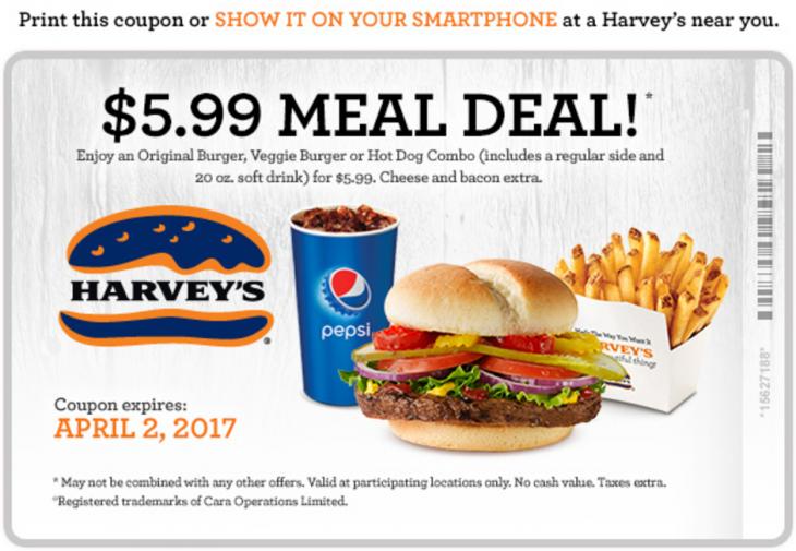 Harvey's Canada Coupon