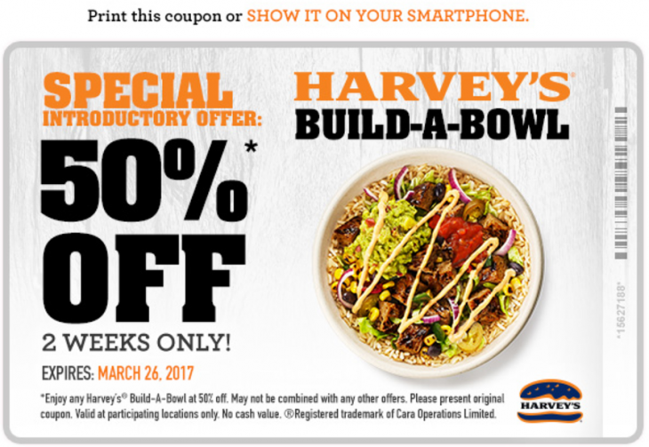 Harvey's Coupon