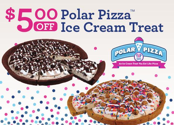 Cake Ice Cream Pizza : Baskin Robbins Canada June Coupons: Save USD5 Off Polar ...