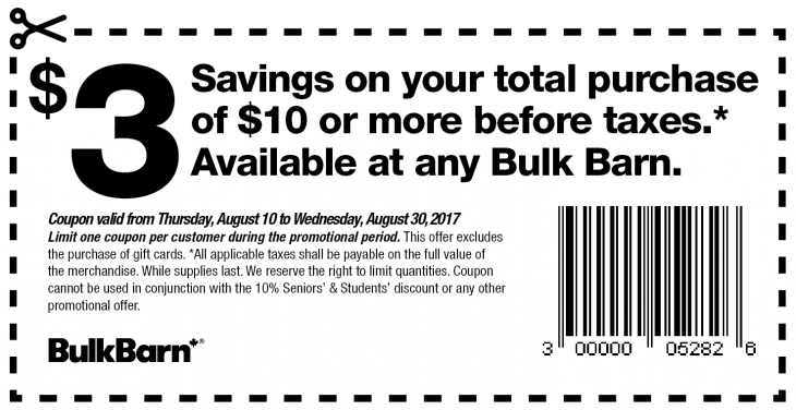 Bulk Barn Canada Coupon