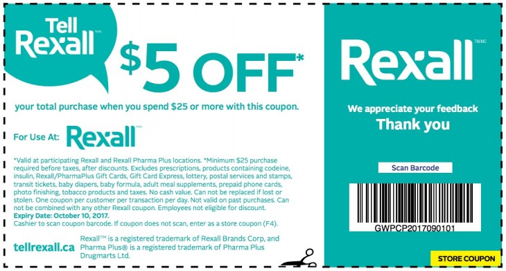 Rexall Pharma Plus Coupon