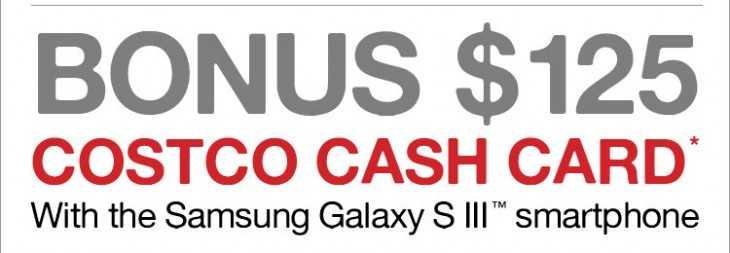 Samsung Galaxy S III, Costo Card